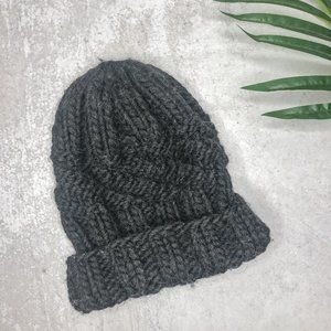 Eugenia Kim Charcoal Grey Cable Knit Wool Beanie